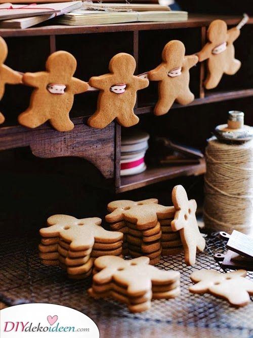 Lebkuchen Männer – Christbaumschmuck selber basteln mit Kindern