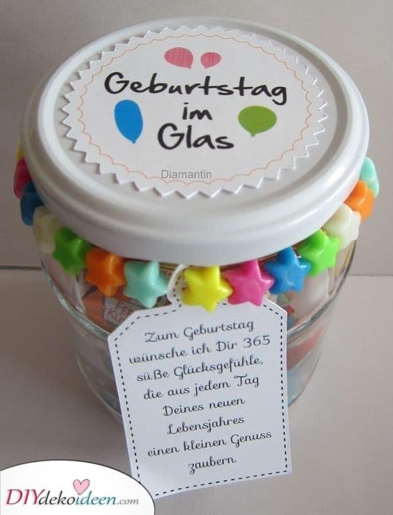 Geburtstag im Glas – Geburtstagsgeschenke für Freundinnen