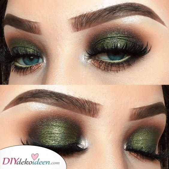 Glamourös in Grün – Weihnacht Augen