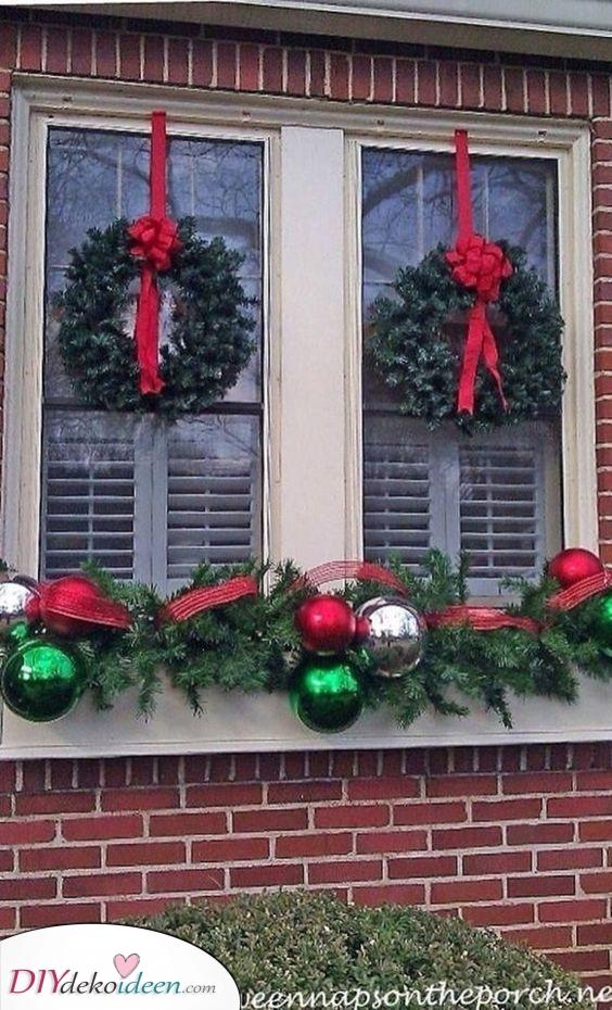 Dekorativ und schillernd – Fenster Deko zu Weihnachten