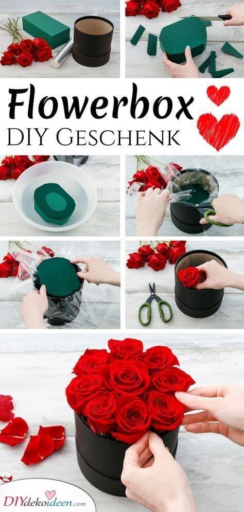 Blumenkasten – Romantische Rosen