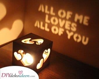 Ein Kerzenhalter – Bleiben Sie kreativ