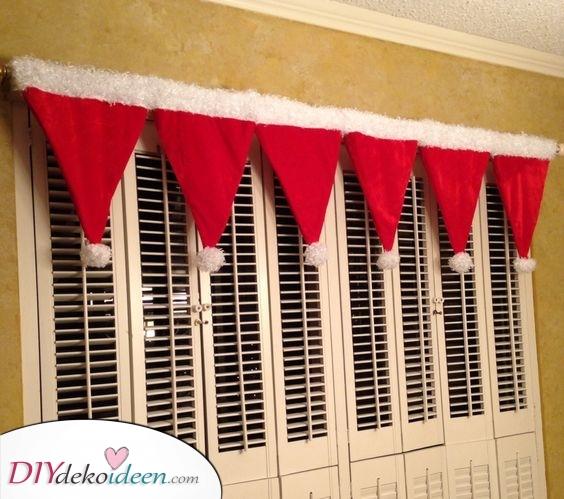 Weihnachtsmann Mützen – Weihnacht Fensterdeko