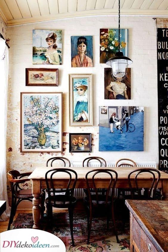 Eine Kunstgalerie – Esszimmer Wandgestaltung
