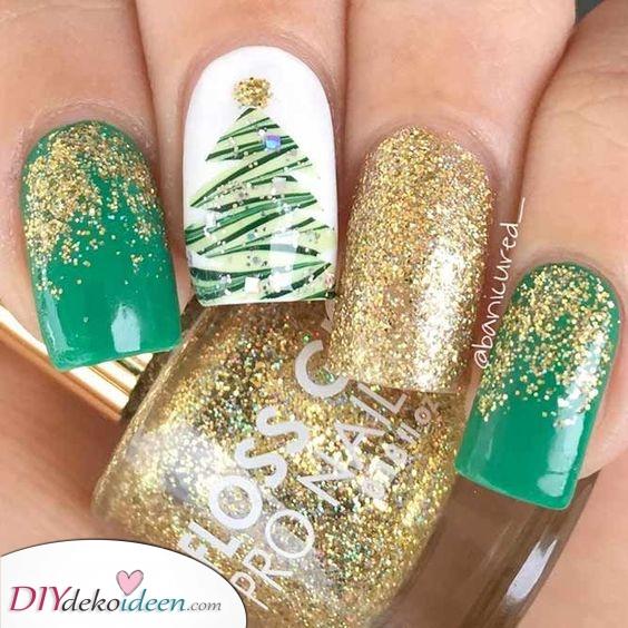 Gold und Grün – Ein wunderschöner Weihnachtsbaum