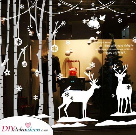Spektakuläre Aufkleber – Fenster Deko zu Weihnachten