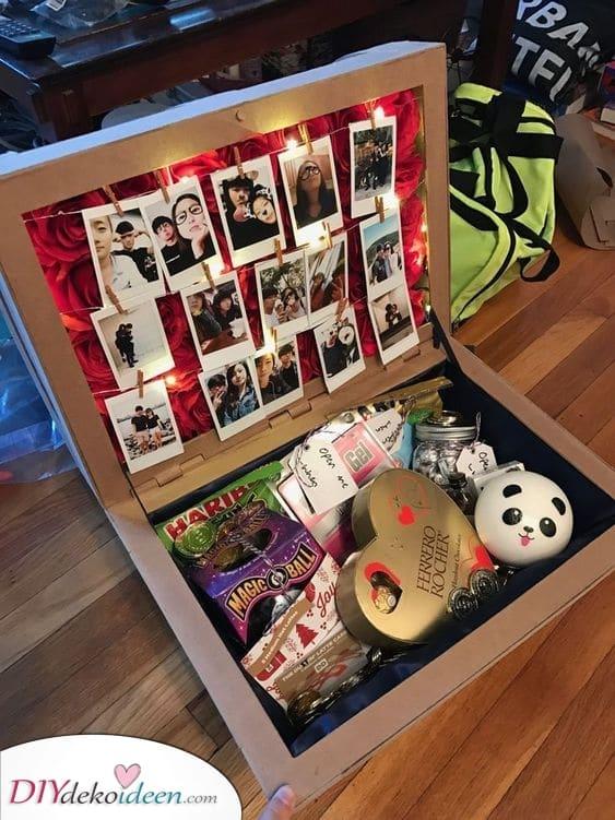 Eine Geburtstagsbox – Geburtstagsgeschenke für Freundinnen selber machen