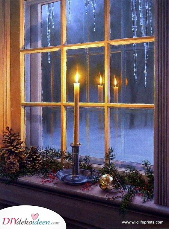 Die Heilige Nacht – Beleuchtete Fenster