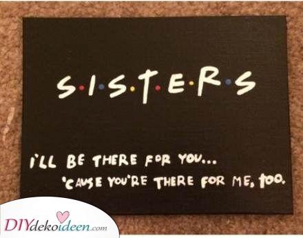 Schwestern sein – Sie wird sich freuen