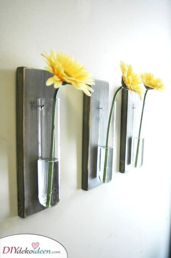 Blumen in Reagenzgläsern für Ihr Heim – Hausgemachte Deko für Wände
