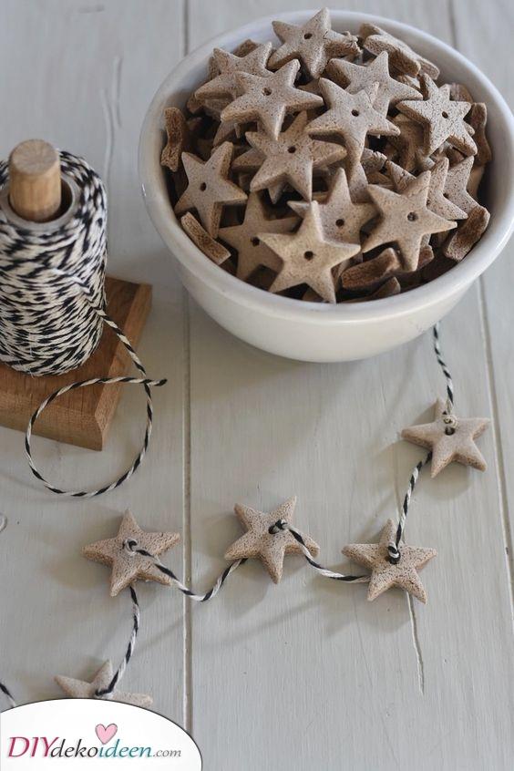 Lebkuchensterne – Sternenketten
