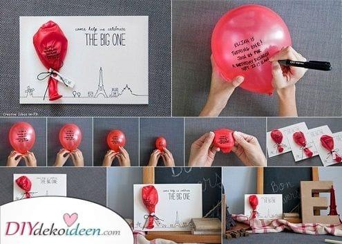 Eine geheime Botschaft – Sprenge den Ballon