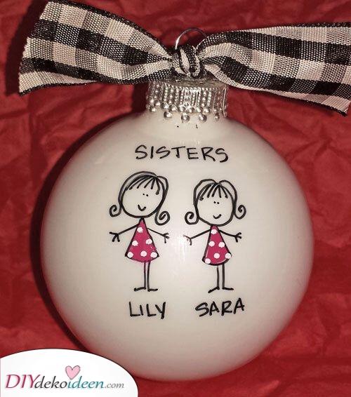 Weihnacht Verzierung – Für die Schwester selbst gemacht