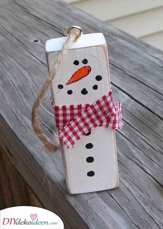 Holz Schneemänner – Einzigartig und einfach gemacht