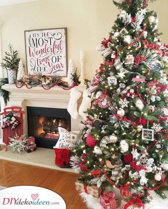 Ein klassischer Look - Weihnachtsbaum Dekoration