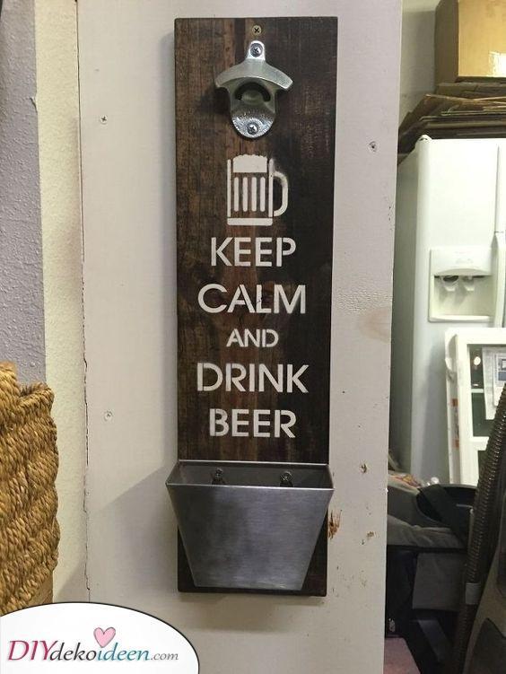 Ruhe bewahren und Bier trinken – Ein Bieröffner