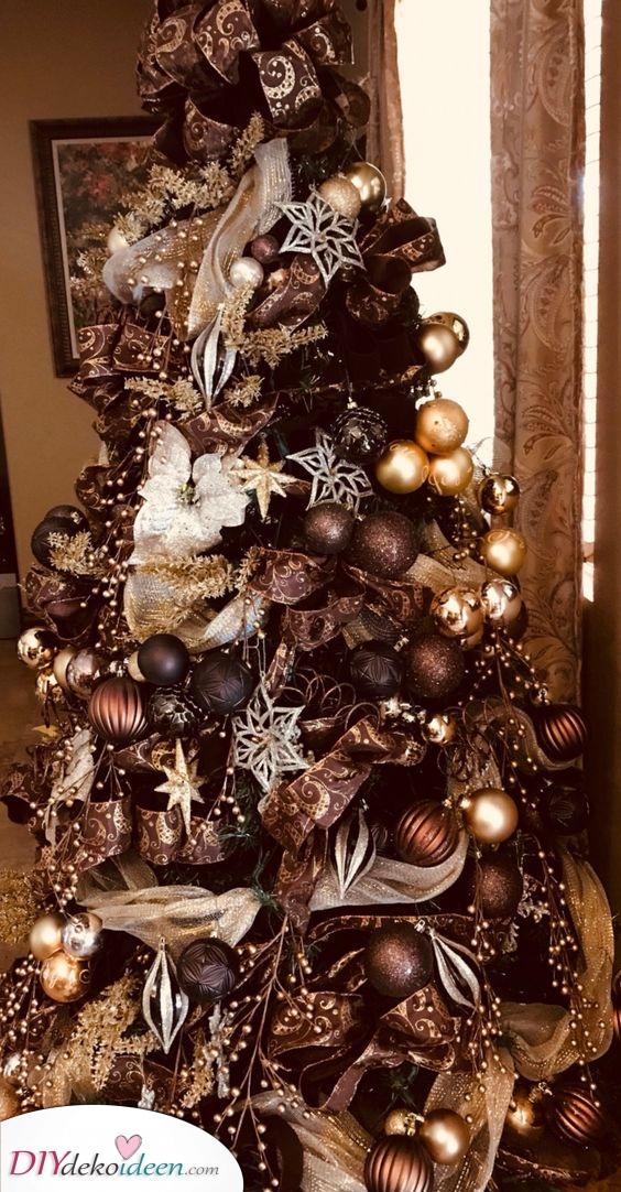 Braun Töne – Weihnachtsbaum Dekoration