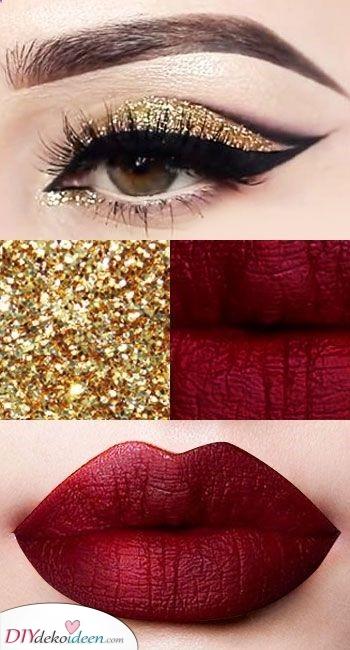 Das goldene Mädchen – Mit kräftigen roten Lippen