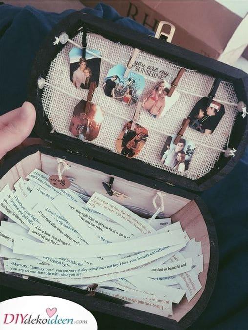 Eine Kiste voller Erinnerungen – Geschenk für den Freund zum Geburtstag