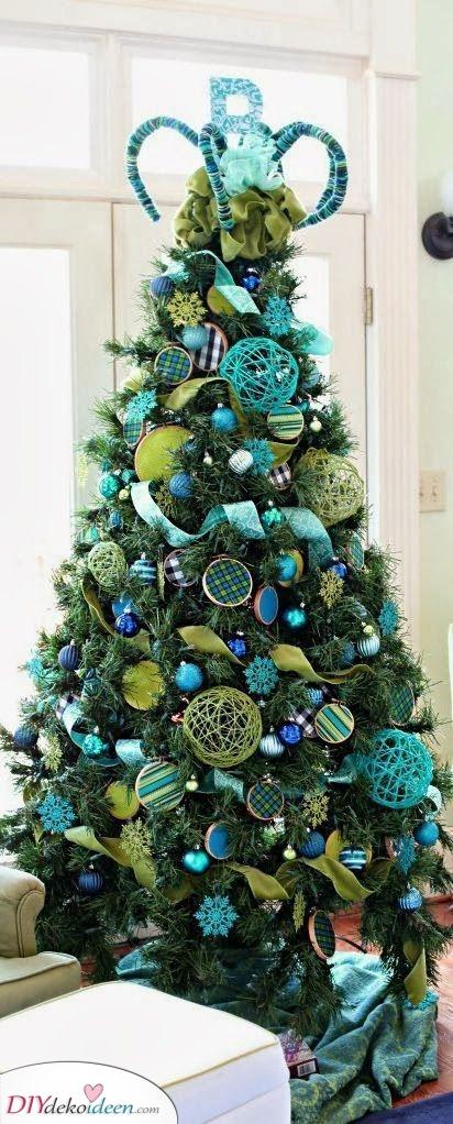 Ein stilvolles Türkis – Weihnachtsbaum geschmückt