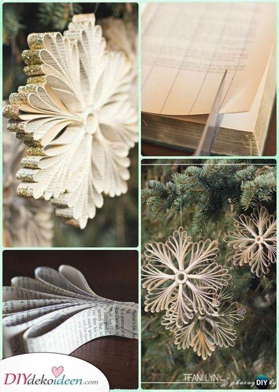 Schneeflocken aus handgeschöpftem Papier – Schön und raffiniert