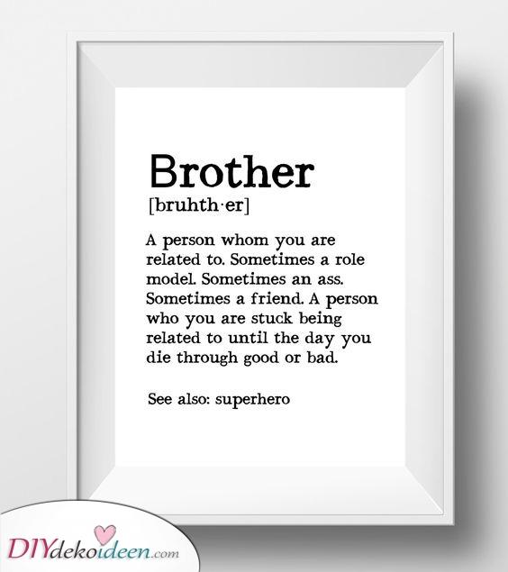 Eine Definition – Für deinen Bruder