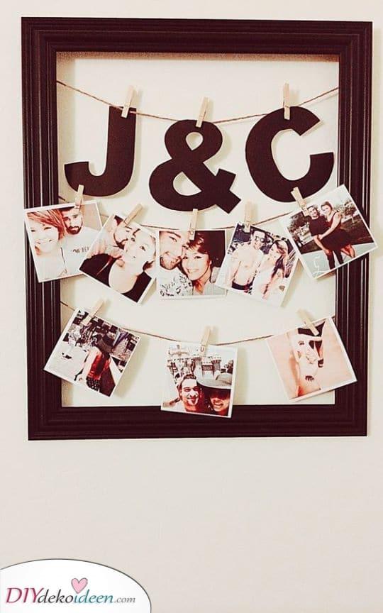 Der Rahmen der Polaroids – Geschenk für die Freundin zum Geburtstag