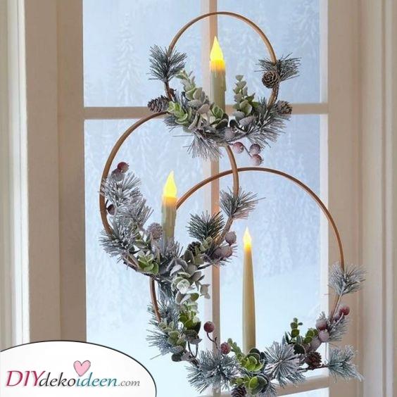 Moderne Weihnacht Kränze – Weihnacht Fensterdeko