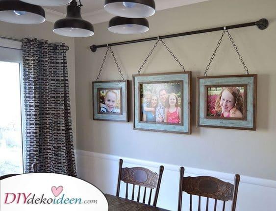 Familienfoto für die Wand – Esszimmer Wandgestaltung